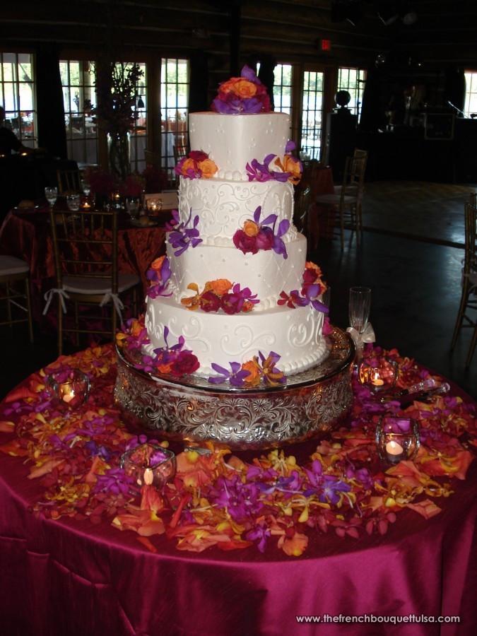 Orange And Purple Wedding Cakes  The French Bouquet Blog inspiring wedding & event