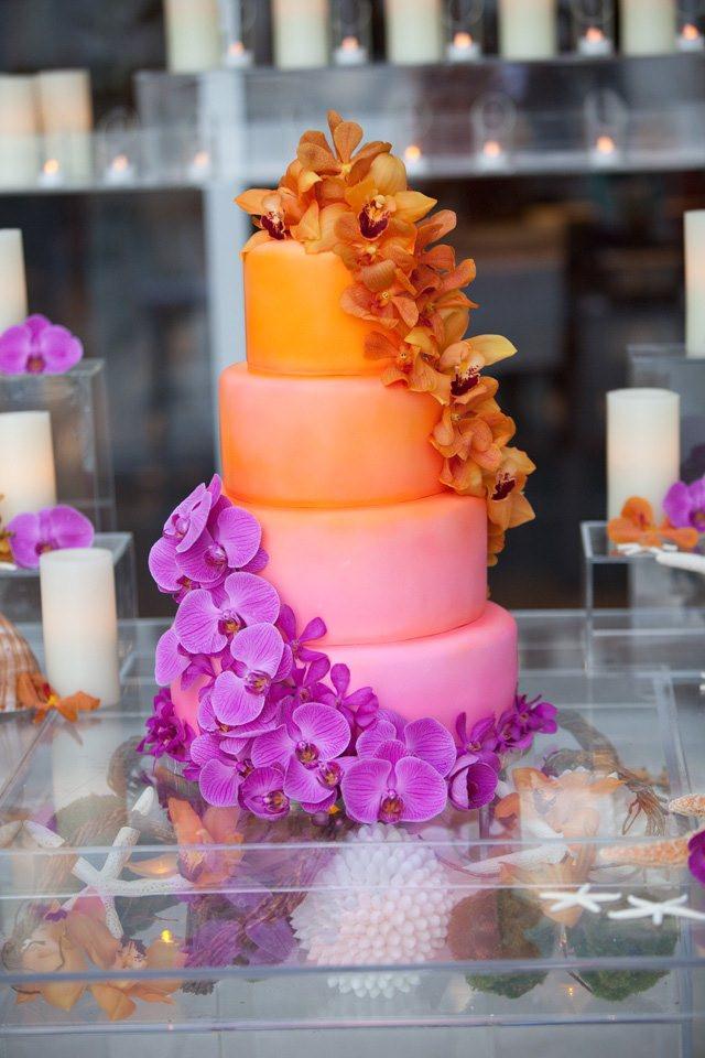 Orange And Purple Wedding Cakes  5 Unique Wedding Color Palettes
