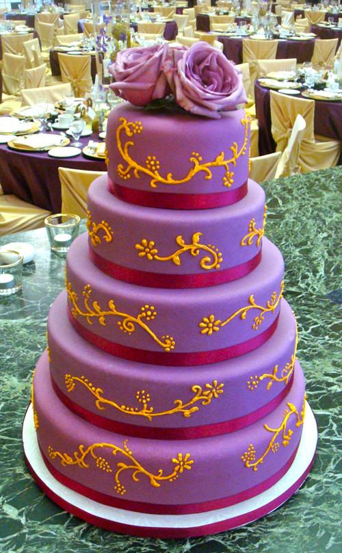 Orange And Purple Wedding Cakes  Purple and Orange Wedding Cakes Wedding and Bridal