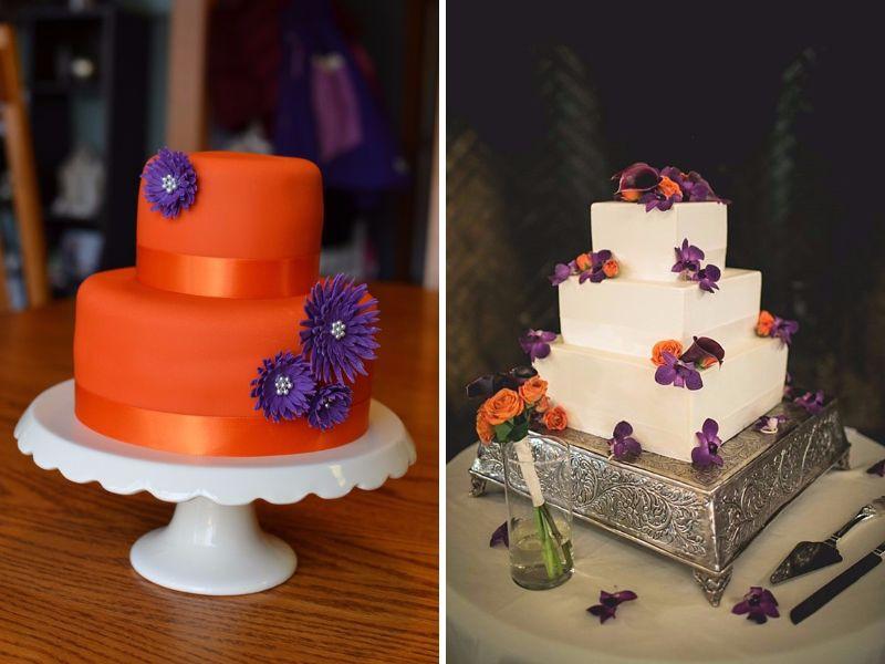 Orange And Purple Wedding Cakes  20 Orange and Purple Wedding Ideas EverAfterGuide