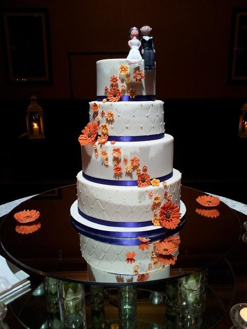 Orange And Purple Wedding Cakes  purple and orange wedding cake