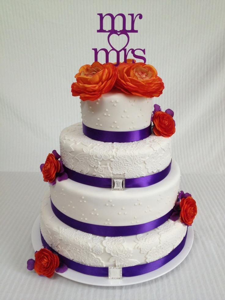 Orange And Purple Wedding Cakes  Wedding Ideas Orange and Purple Wedding