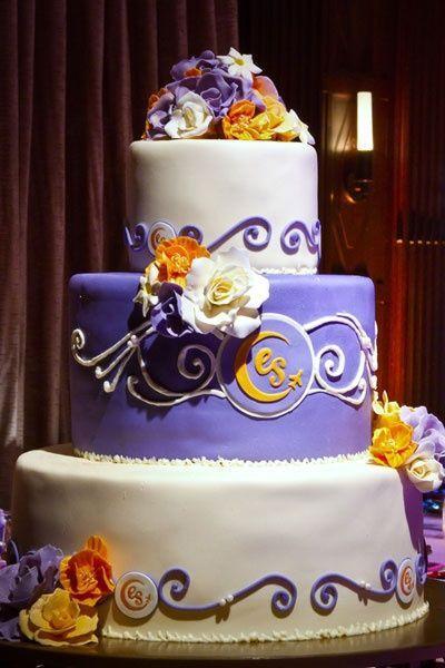Orange And Purple Wedding Cakes  Gorgeous purple and orange cake wedding cakes Juxtapost