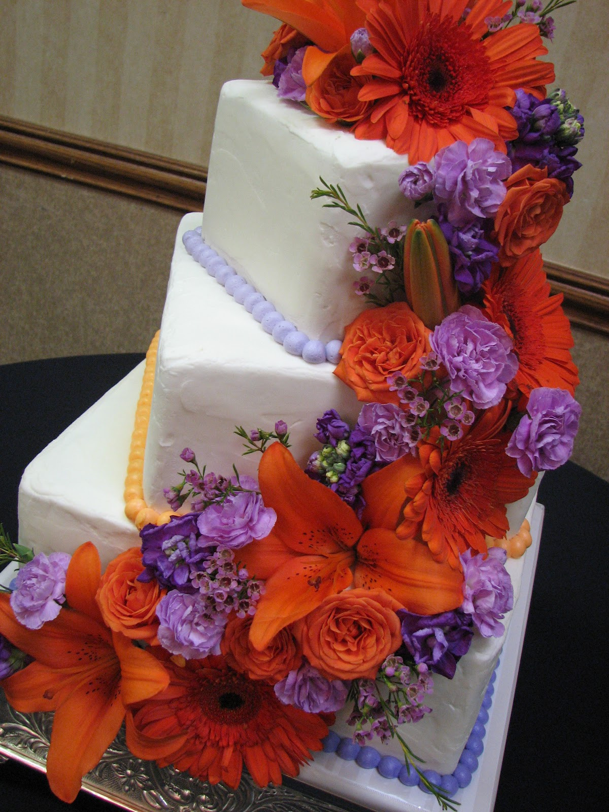 Orange And Purple Wedding Cakes  Orange and purple wedding cakes idea in 2017