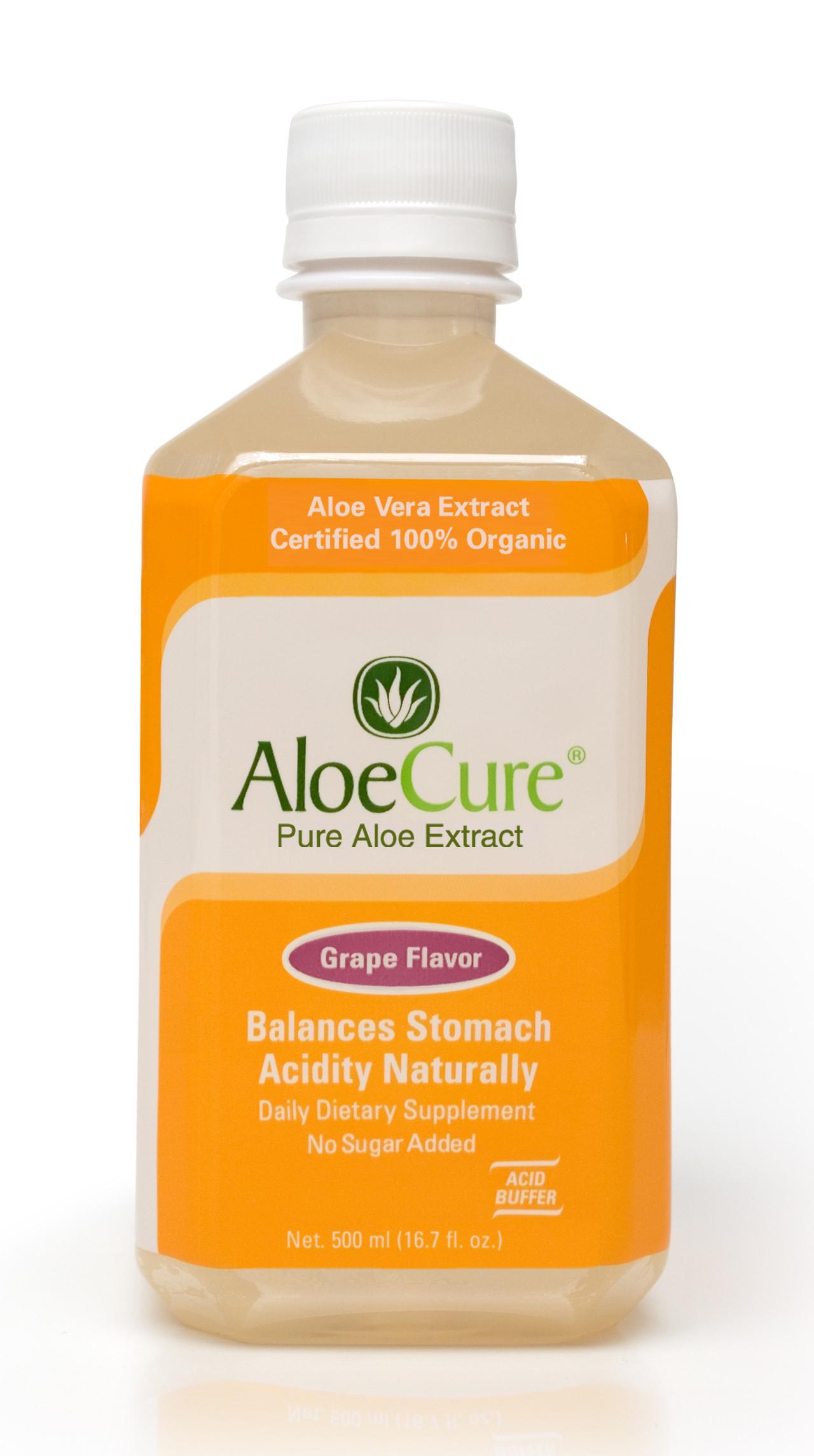 Organic Aloe Vera Juice  AloeCure Pure Aloe Vera Juice for Bouts of Acid Reflux