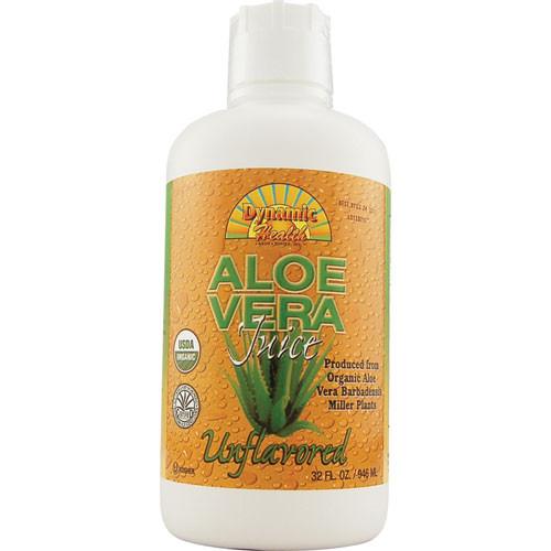 Organic Aloe Vera Juice  Buy Dynamic Health Organic Aloe Vera Juice Unflavored 32 Oz