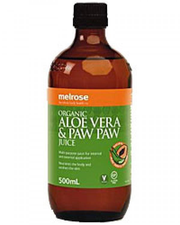 Organic Aloe Vera Juice  Melrose Organic Aloe Vera PawPaw Juice 500ml Health Food