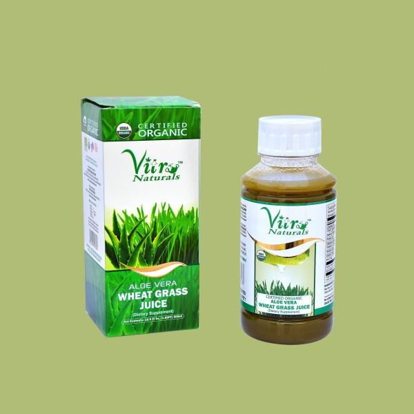 Organic Aloe Vera Juice  Certified Organic ALOE VERA WHEAT GRASS JUICE