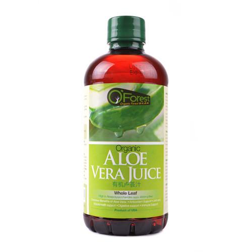 Organic Aloe Vera Juice  O FOREST Organic Aloe Vera Juice 946ml