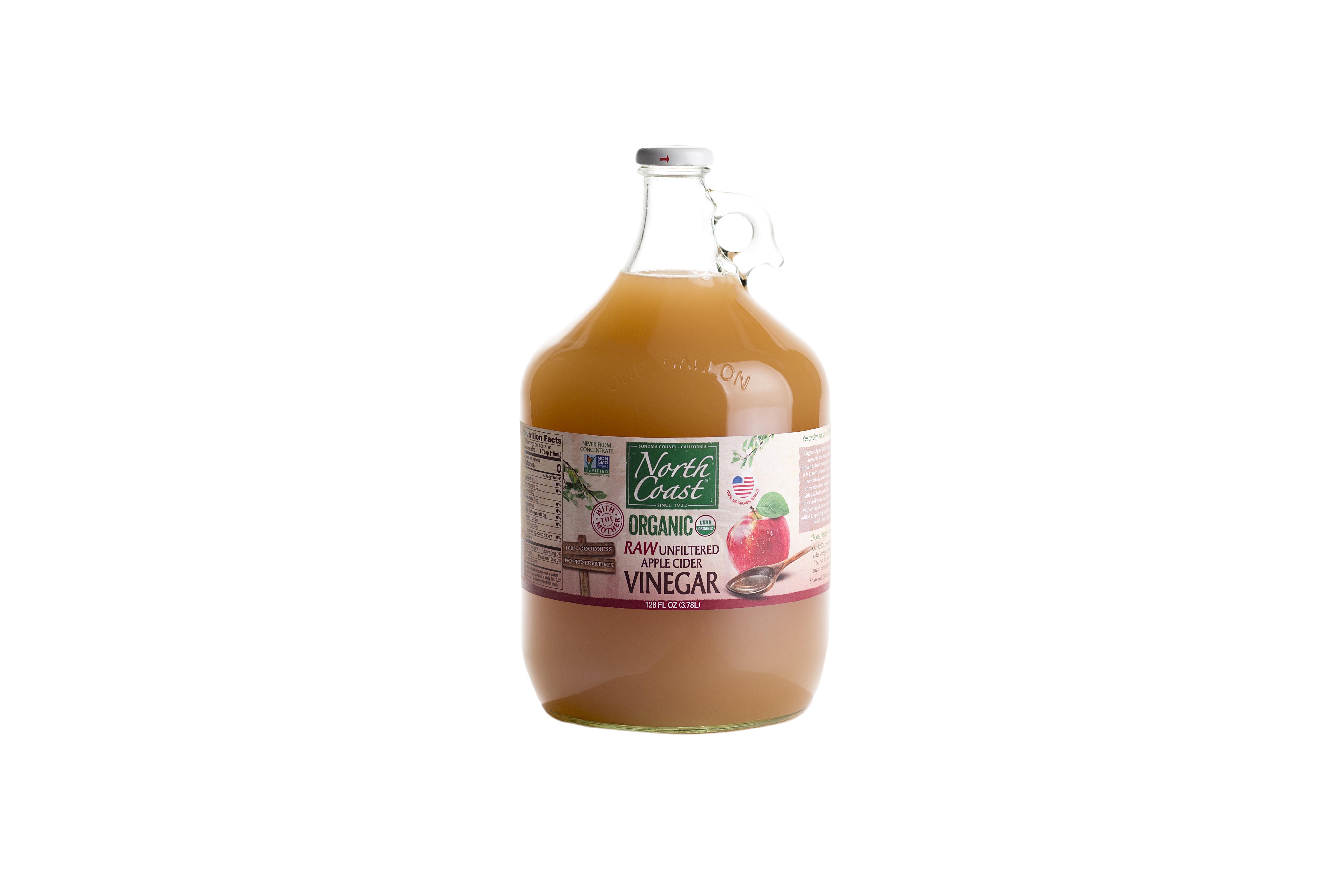 Organic Apple Cider Vinegar Recipes  Organic RAW Apple Cider Vinegar 128oz