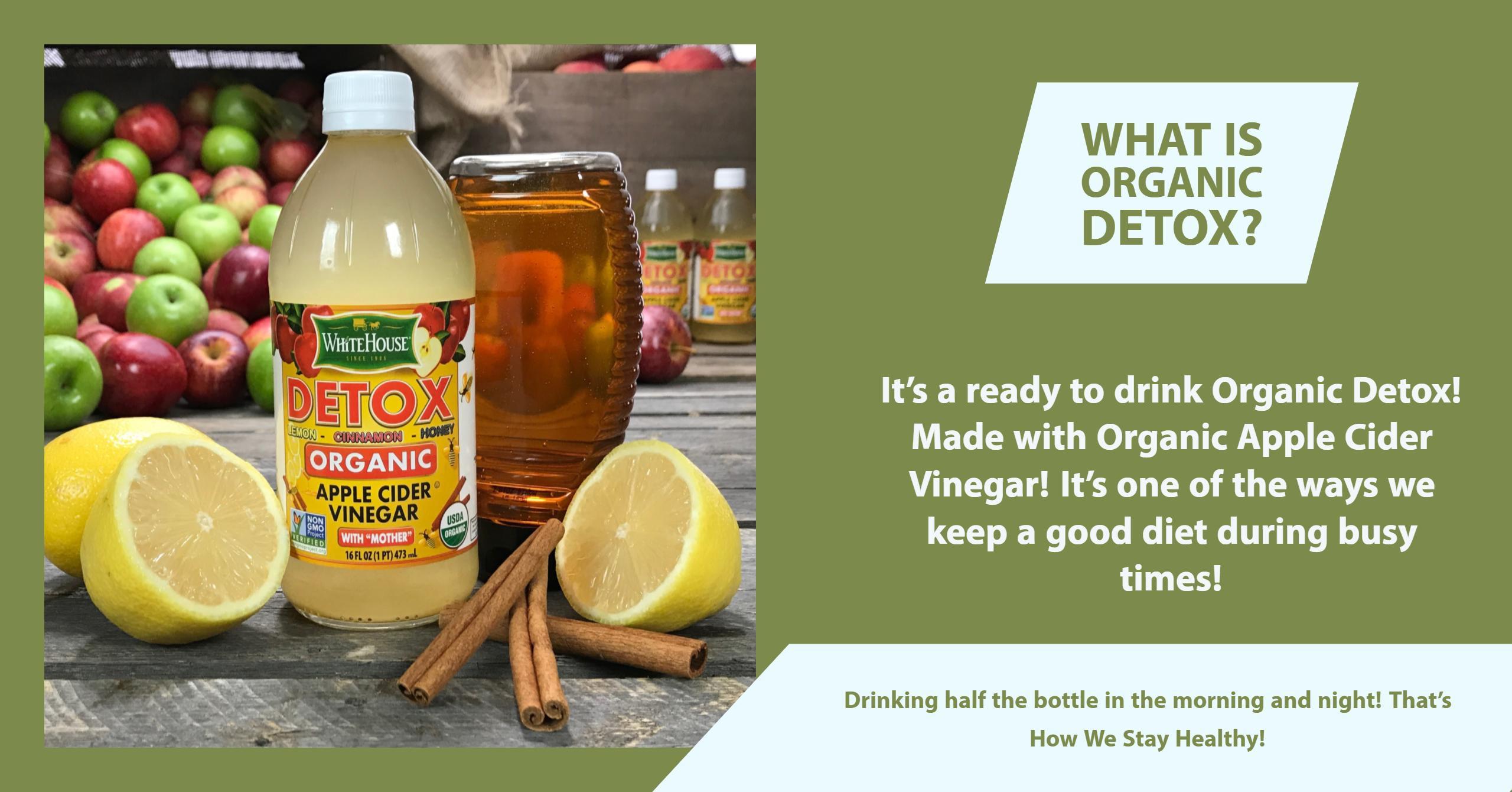 Organic Apple Cider Vinegar Recipes  White House Organic Detox White House White House
