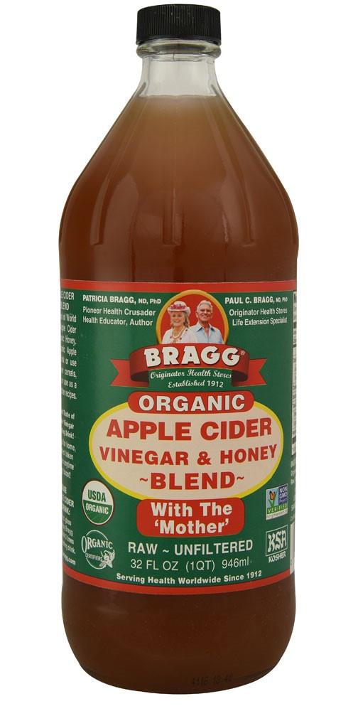 Organic Apple Cider Vinegar Recipes  Bragg Organic Apple Cider Vinegar & Honey Blend Raw