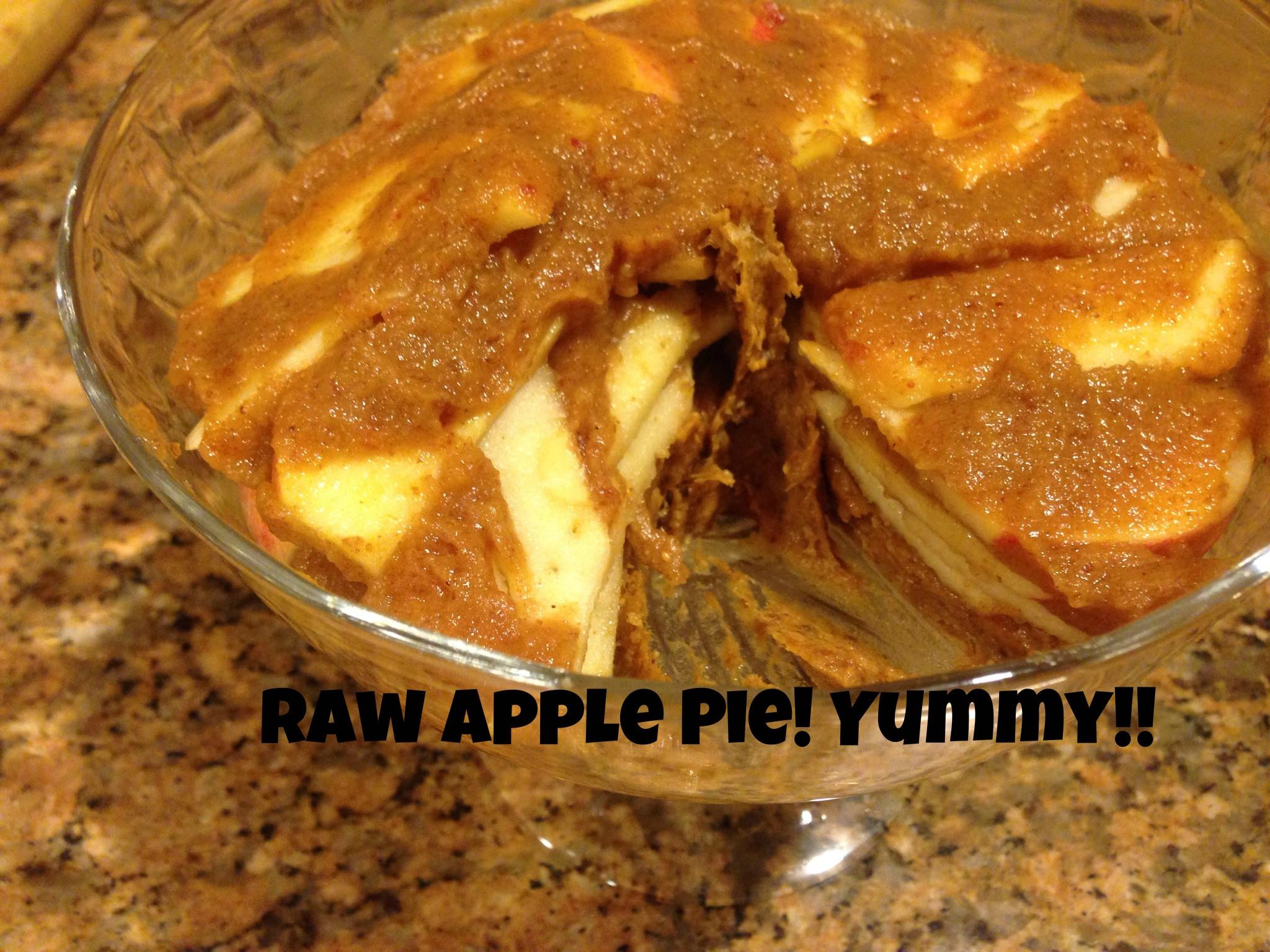 Organic Apple Pie Recipe  Raw Apple Pie 5 Ingre nt all Raw Apple Pie Recipe
