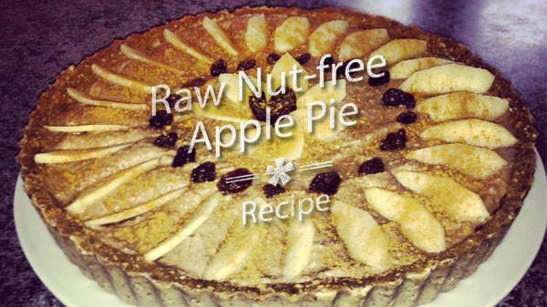 Organic Apple Pie Recipe  Raw Nut free Apple Pie