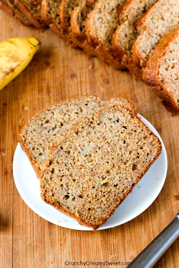 Organic Banana Bread  Whole Wheat Yogurt Banana Bread
