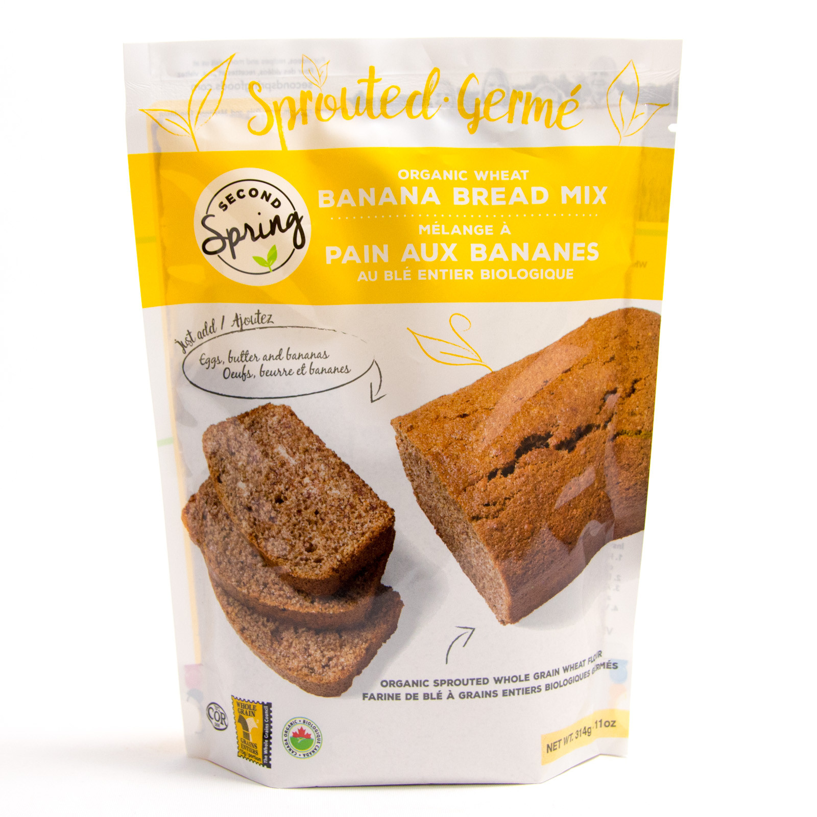Organic Banana Bread  Sprouted Banana Bread Mix Baking