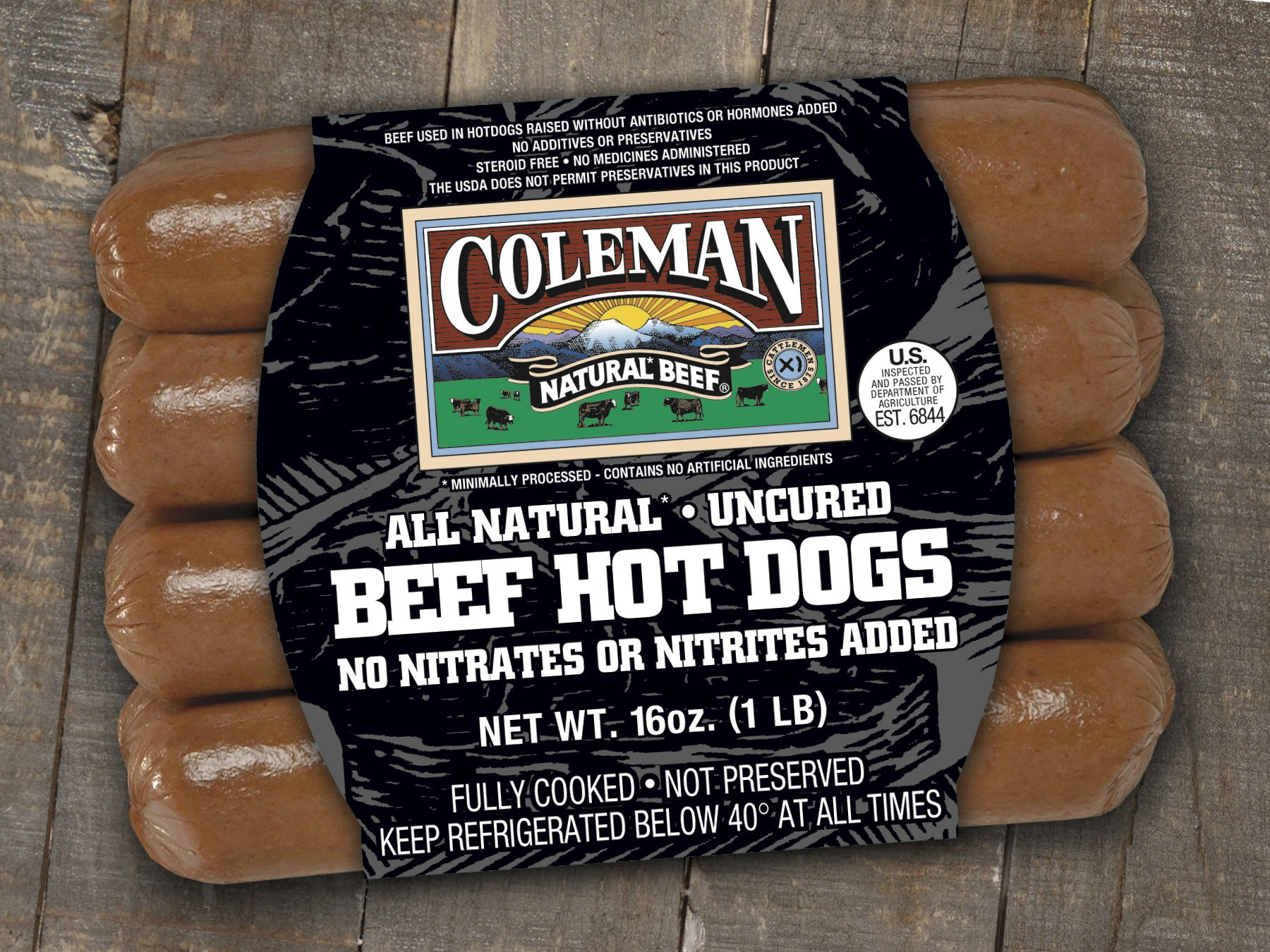 Organic Beef Hot Dogs  Coleman Natural Beef