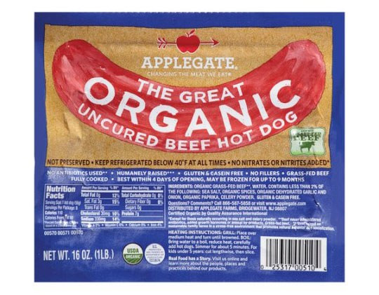 Organic Beef Hot Dogs  The Best Supermarket Hot Dog Brand You Can Buy