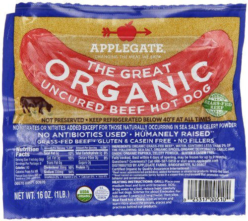 Organic Beef Hot Dogs  Vienna Beef Natural Casing Hot Dog 10 Per Pack 3 Pack