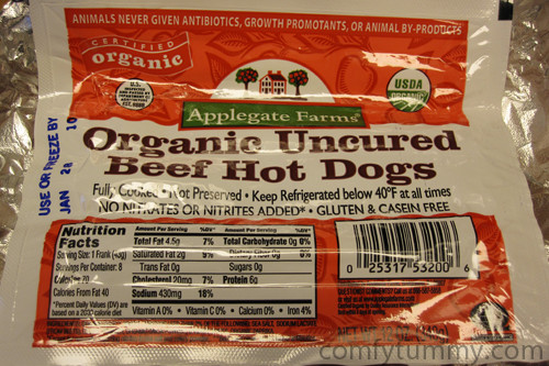Organic Beef Hot Dogs  Applegate Farms Organic Uncured Beef Hot Dogs fy Tummy