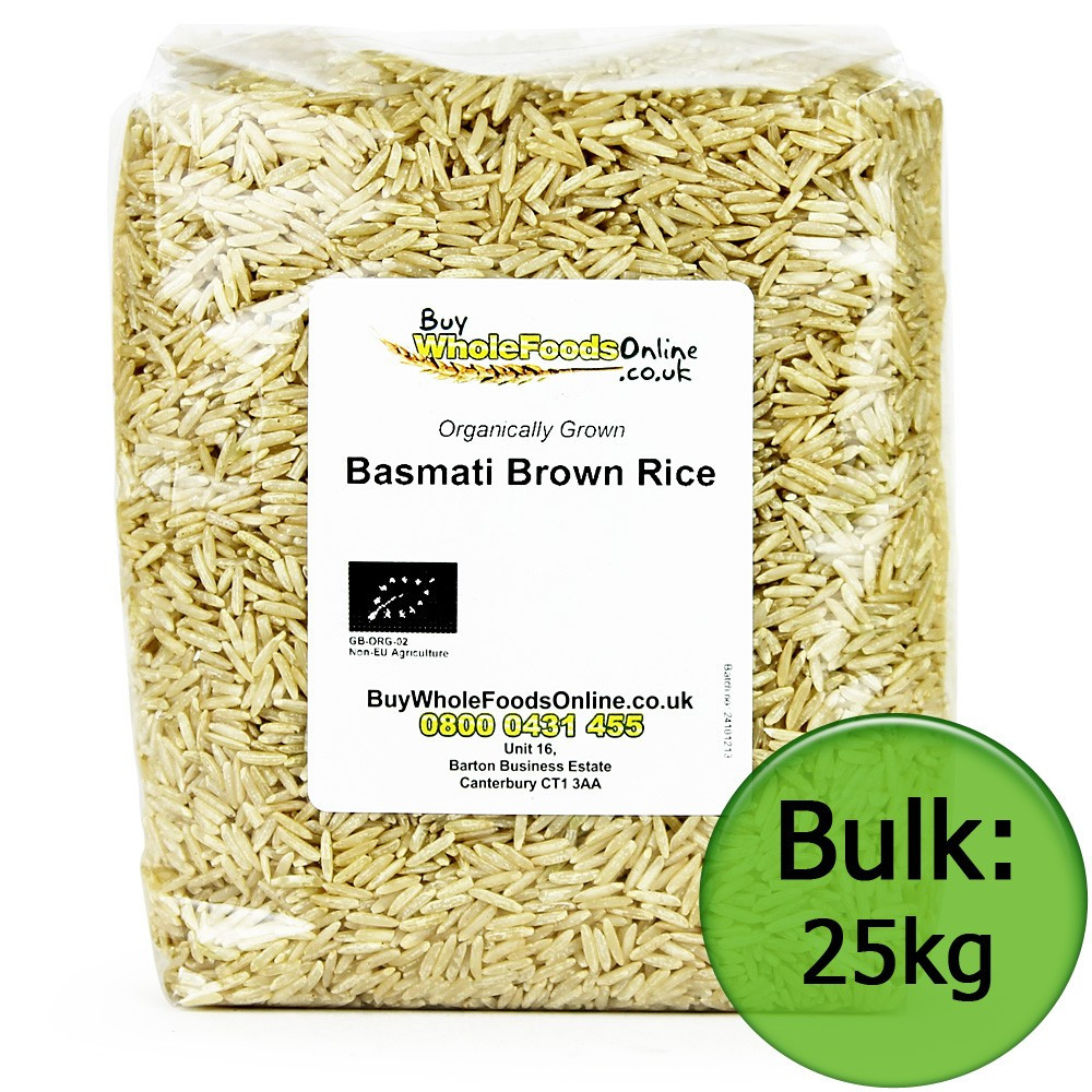 Organic Brown Basmati Rice  Organic Basmati Brown Rice 25kg