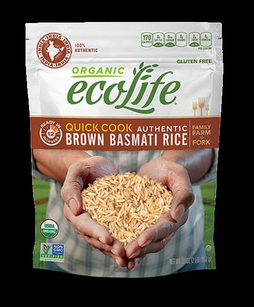 Organic Brown Basmati Rice  Authentic Quick Cook Brown Basmati Rice ecoLife