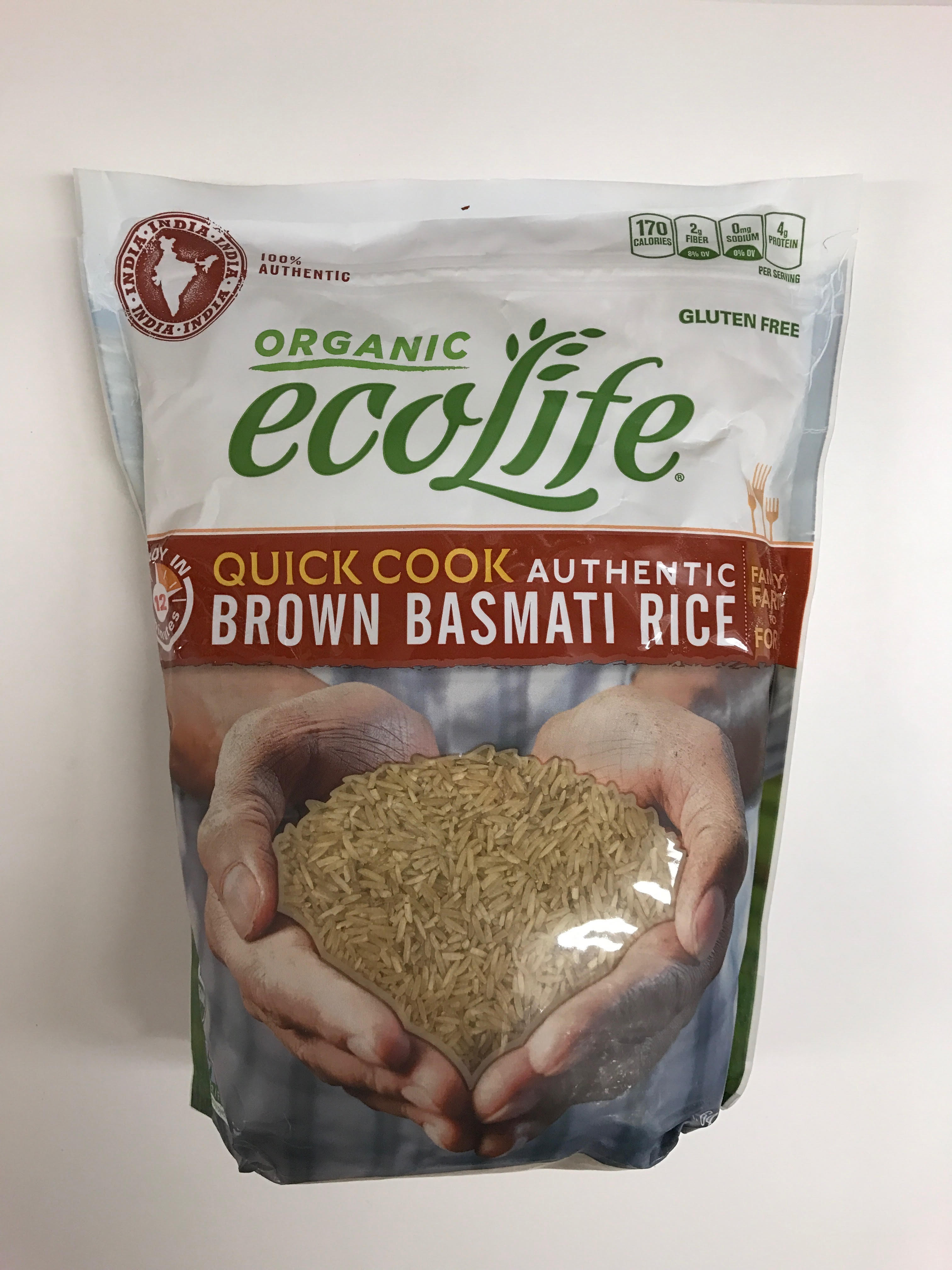 Organic Brown Basmati Rice  Kesar Grocery grocery rice Organic Ecolife Brown