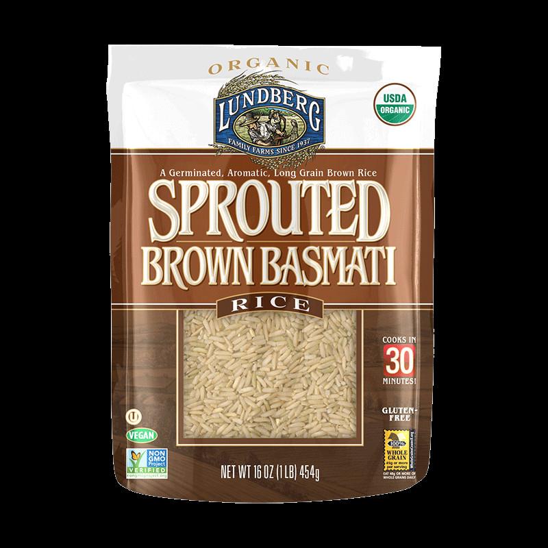 Organic Brown Basmati Rice  ORGANIC SPROUTED BROWN BASMATI RICE