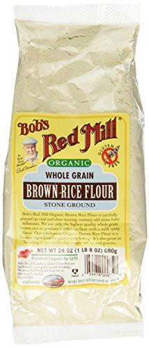 Organic Brown Rice Flour  Bob s Red Mill Organic Brown Rice Flour 24 oz Import