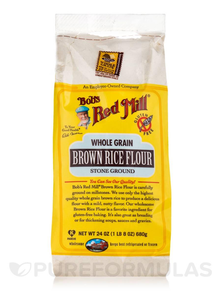 Organic Brown Rice Flour  Whole Grain Brown Rice Flour Stone Ground 24 oz 680 Grams