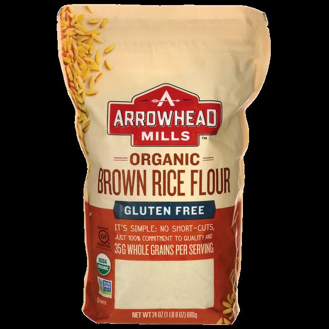 Organic Brown Rice Flour  Arrowhead Mills Organic Brown Rice Flour 24 oz 680 grams