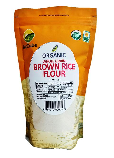 Organic Brown Rice Flour  McCabe