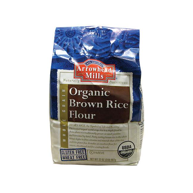 Organic Brown Rice Flour  Arrowhead Mills Organic Brown Rice Flour 32 oz Pkg