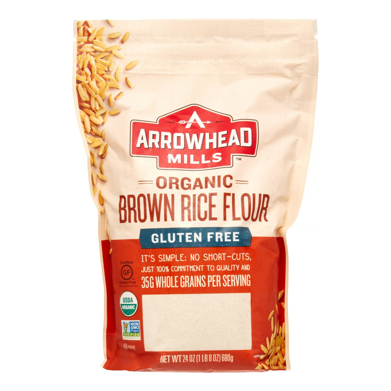 Organic Brown Rice Flour  Arrowhead Mills Gluten Free Organic Brown Rice Flour 24