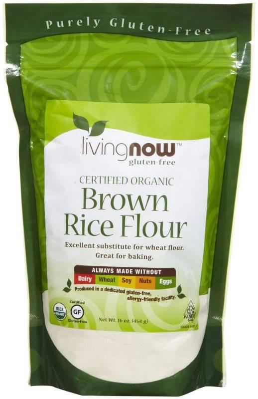 Organic Brown Rice Flour  Now Foods Organic Brown Rice Flour 1 lb