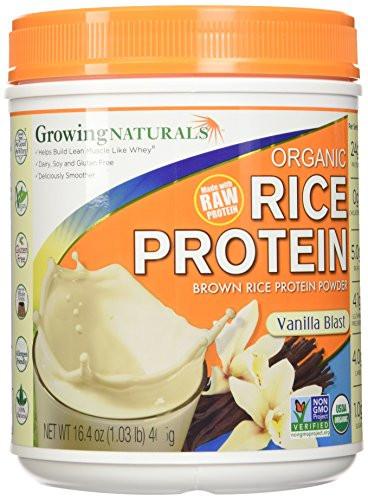 Organic Brown Rice Protein Powder  Growing Naturals Organic Rice Protein Powder Vanilla