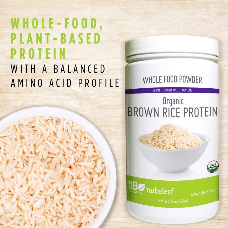 Organic Brown Rice Protein Powder  Organic Brown Rice Protein Powder nubeleaf
