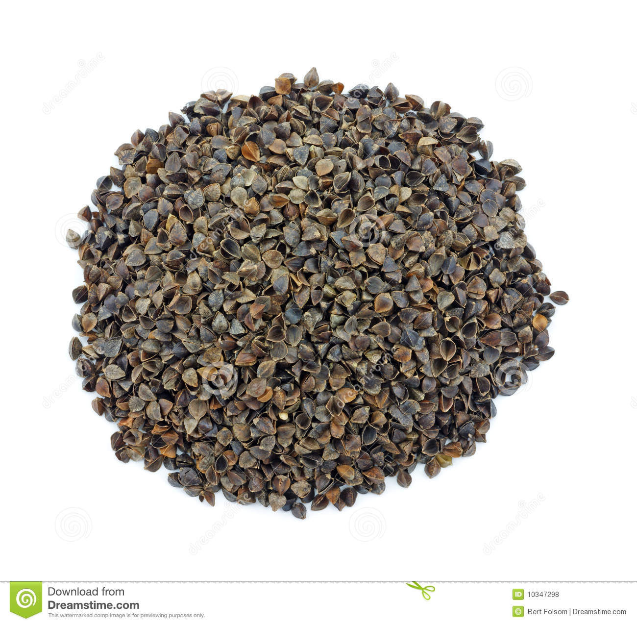 Organic Buckwheat Hulls  Organic Buckwheat Hulls Royalty Free Stock s Image