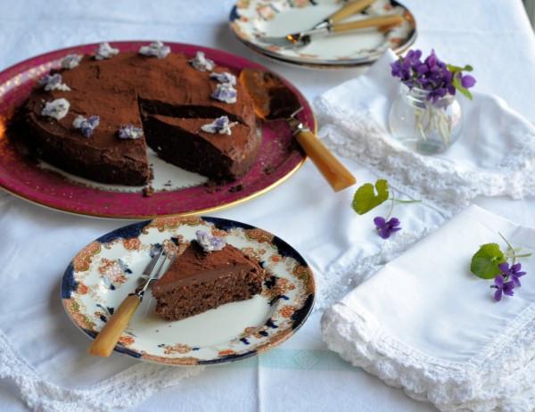 Organic Cake Recipe  A BIG Easter Cake Creme Egg Chocolate Drizzle Cake