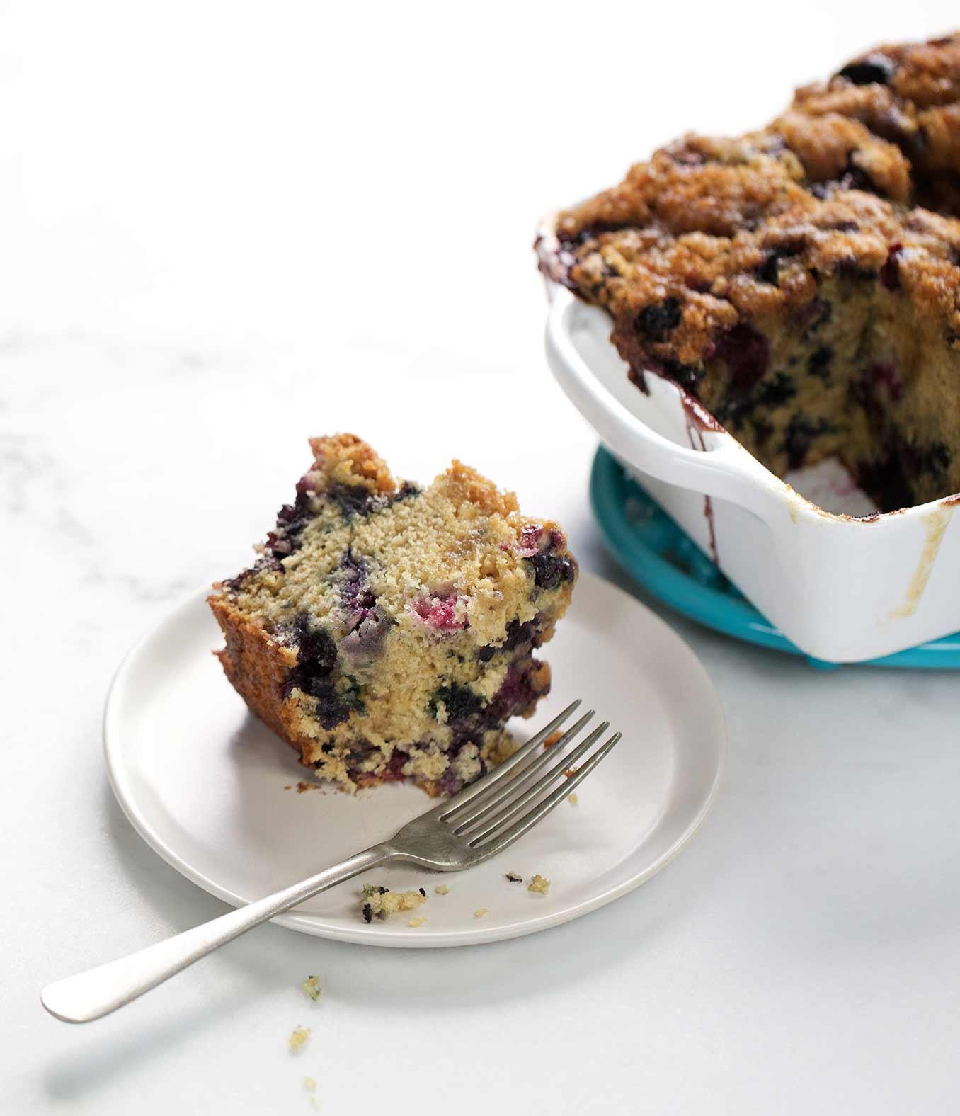 Organic Cake Recipe  Cream Glazed Blueberry Coffee Cake Recipe