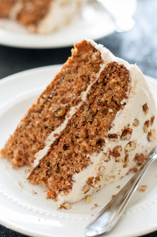 Organic Carrot Cake Recipe  Gluten Free Dairy Free Decadent Carrot Cake Allergy Free