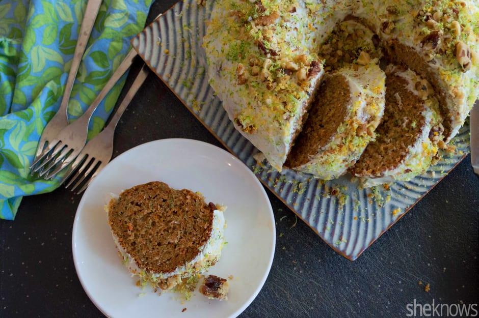 Organic Carrot Cake Recipe  Zucchini carrot Bundt cake is the easiest way to sneak
