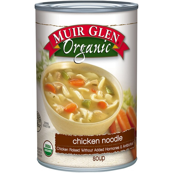 Organic Chicken Noodle Soup  Muir Glen Organic Chicken Noodle Soup 14 5 oz from Whole