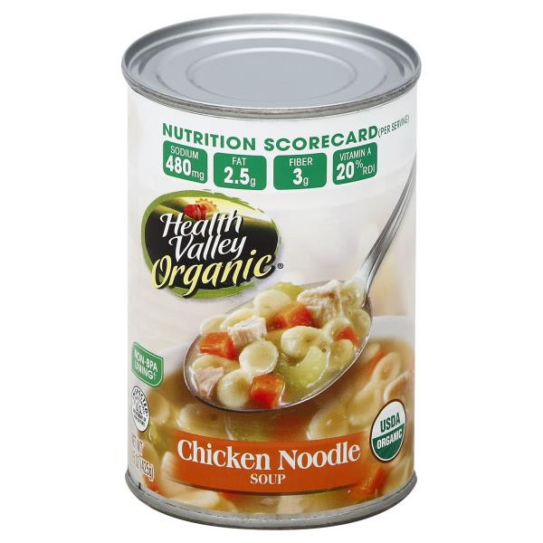 Organic Chicken Noodle Soup  Health Valley Organic Soup Chicken Noodle Publix
