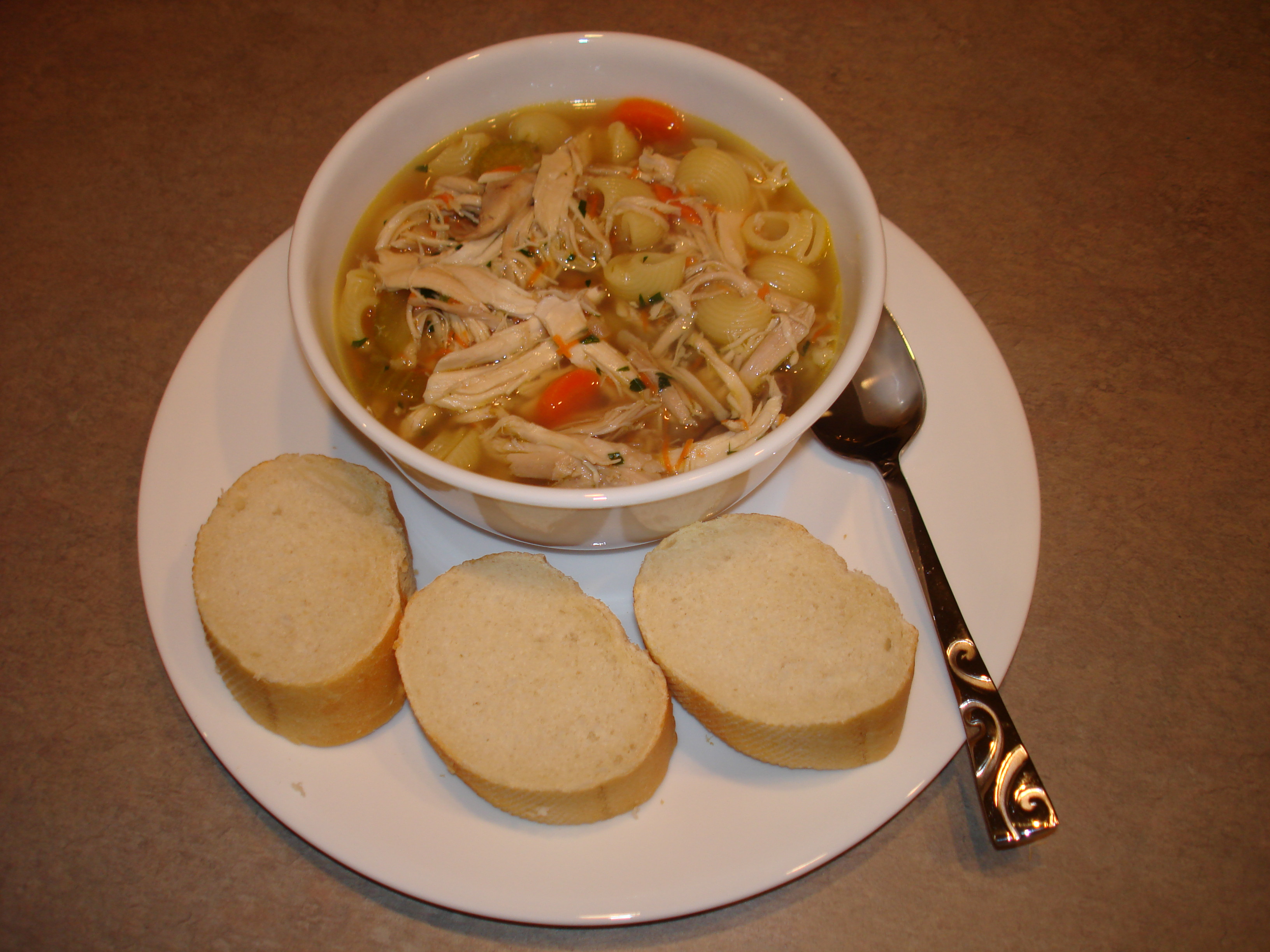 Organic Chicken Noodle Soup  File Whole Chicken Noodle Soup Wikimedia