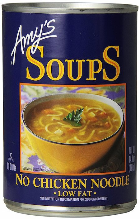 Organic Chicken Noodle Soup  13 Canned Vegan Soups for When You're Sick AF