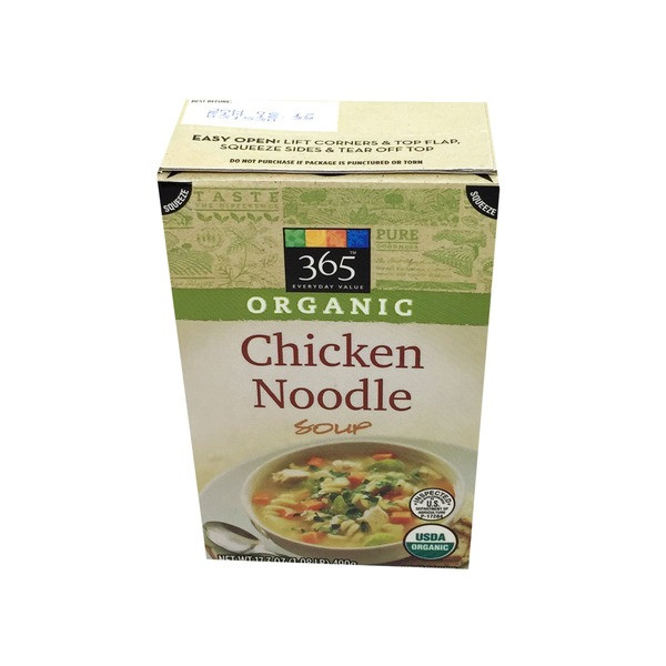 Organic Chicken Noodle Soup  365 Organic Chicken Noodle Soup 17 3 oz from Whole Foods