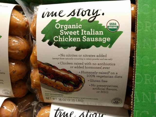 Organic Chicken Sausage Costco  True Story Organic Sweet Italian Chicken Sausage