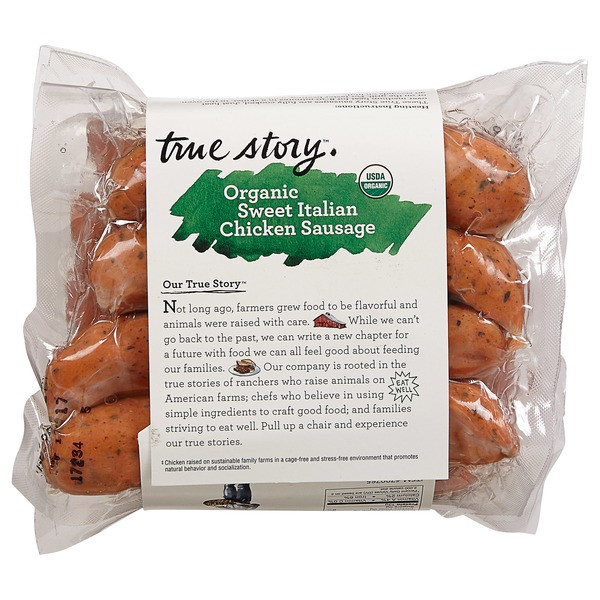 Organic Chicken Sausage Costco  True Story Organic Italian Chicken Sausage 2 25 lb from