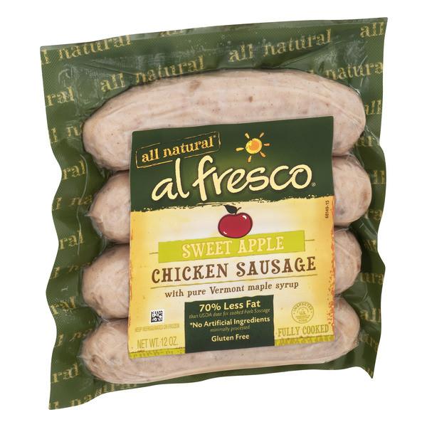 Organic Chicken Sausage  Al Fresco All Natural Chicken Sausage Sweet Apple 12OZ